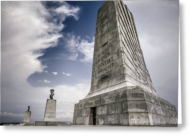 Historic Statue Digital Art Greeting Cards - Wright Brothers Greeting Card by Eduard Moldoveanu