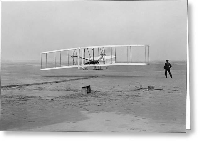 Air Service Greeting Cards - Wright Brothers First Flight Greeting Card by War Is Hell Store