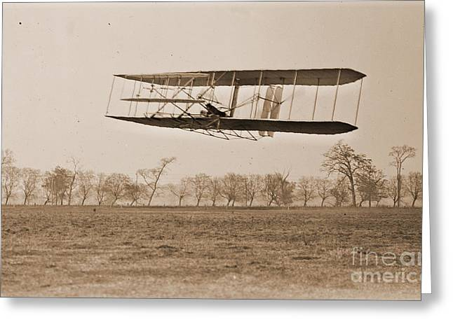 Padre Art Greeting Cards - Wright Brothers Flight 85 Greeting Card by Padre Art