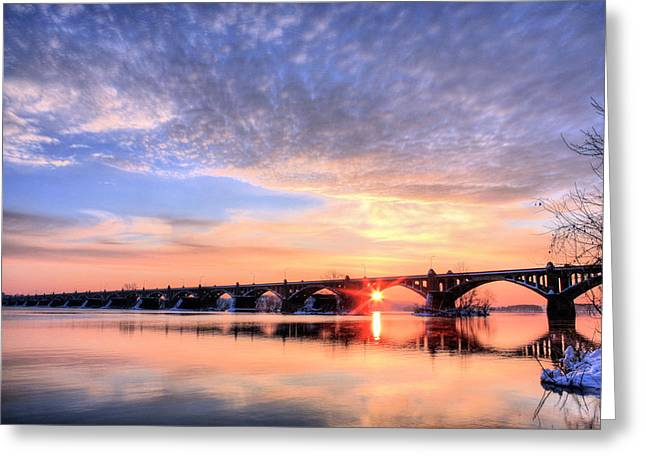 Wrightsville Greeting Cards - Wrightsville to Columbia Greeting Card by JC Findley
