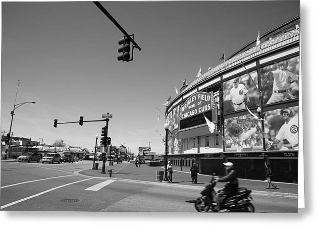 Baseball Photographs Greeting Cards - Wrigley Field - Chicago Cubs 19 Greeting Card by Frank Romeo