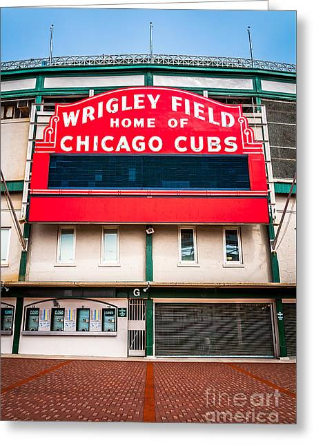Wrigley Field Sign Photo Greeting Card by Paul Velgos