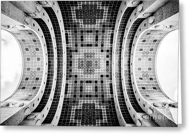 Wrigley Memorial Tiled Ceiling On Catalina Island Greeting Card by Paul Velgos