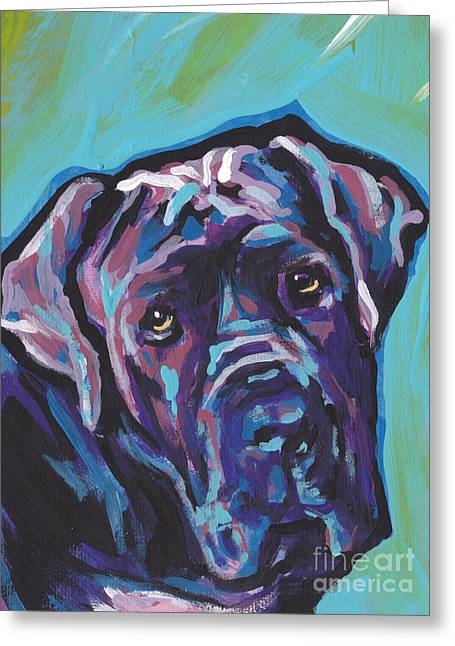Mastiff Greeting Cards - Wrinkly Neo Greeting Card by Lea