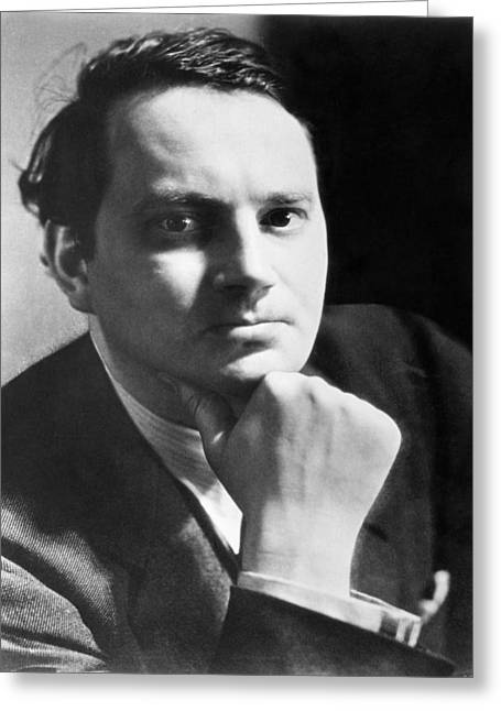 Hand On Chin Greeting Cards - Writer Thomas Wolfe Greeting Card by Underwood Archives