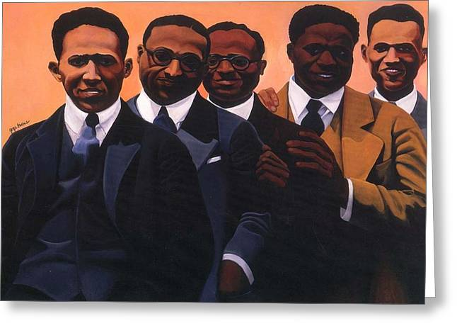 Harlem Renaissance Greeting Cards - Writers on the Roof Greeting Card by Joyce Owens