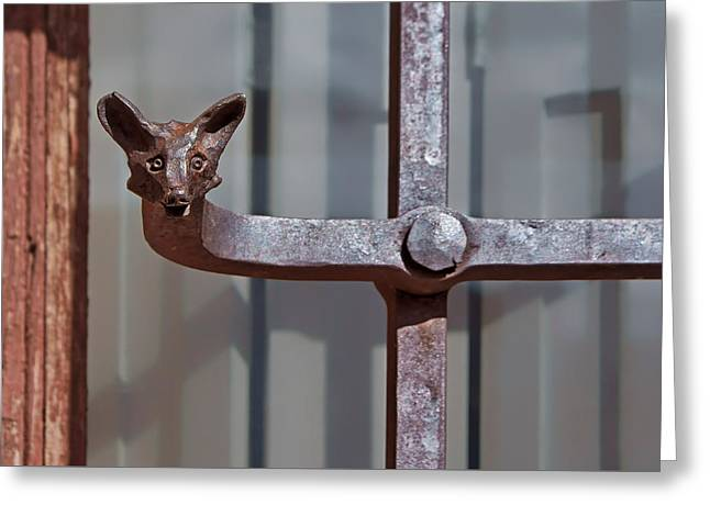 Ironworkers Greeting Cards - Wrought Iron Fox Greeting Card by Nikolyn McDonald