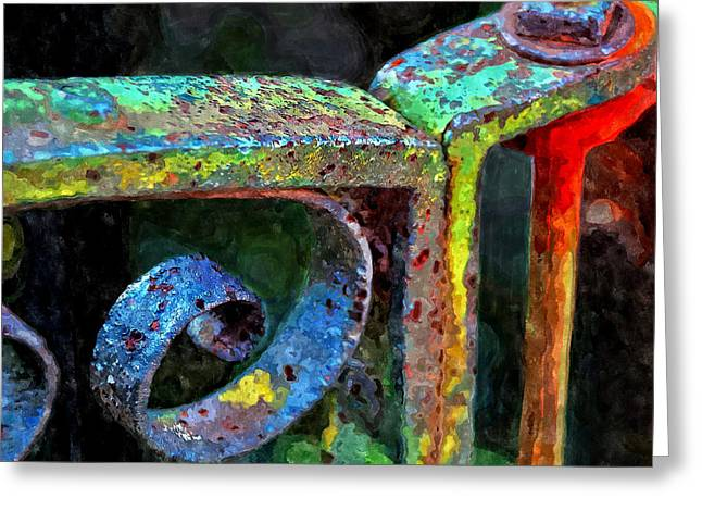Wrought Iron Gate Greeting Cards - Wrought Iron Gate Greeting Card by Rick Mosher