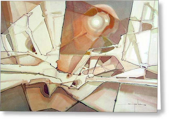 WS1978DC004 New Dimention Greeting Card by Alfredo Da Silva
