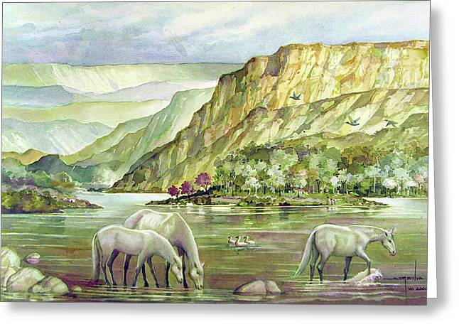 Ws2000dc023 Landscape Bolivia 18x12 Greeting Card by Alfredo Da Silva
