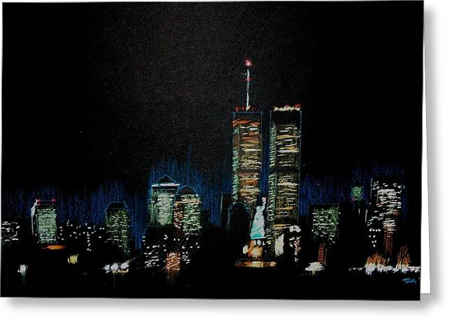 Manhattan Pastels Greeting Cards - Wtc Greeting Card by Terry Groehler