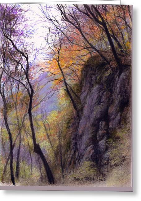 Cliffs Pastels Greeting Cards - WuNuShan Outcrop Greeting Card by Mark Ivan Cole