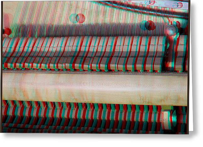 Rudolph Greeting Cards - Wurlitzer Piano - Use Red-Cyan 3D glasses Greeting Card by Brian Wallace