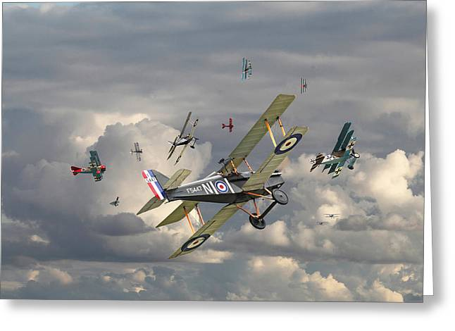Ww1 Greeting Cards - WW1 - Wings Greeting Card by Pat Speirs