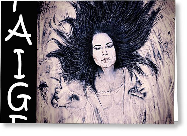 Vince Drawings Greeting Cards - WWE Wrestling Superstar Paige Greeting Card by Jim Fitzpatrick