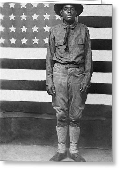 Wwi African American Soldier Greeting Card by Underwood Archives