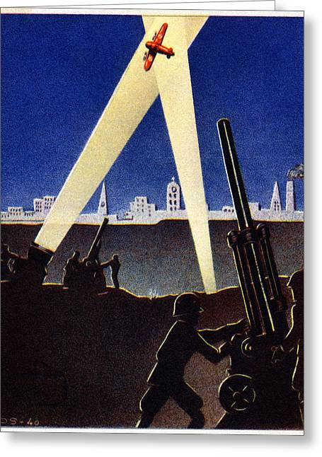 Soviet Union Paintings Greeting Cards - WWII Antiaircraft Guns of Finland Greeting Card by Historic Image