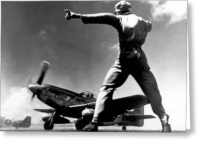 Wwii, North American P-51 Mustang, 1940s Greeting Card by Science Source