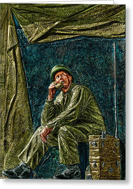 Christopher Holmes Greeting Cards - WWII Radioman Greeting Card by Christopher Holmes