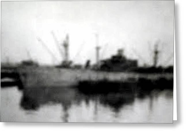 My Ocean Greeting Cards - WW2 Ship 1 Greeting Card by ConnieAnn LaPointe