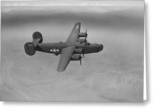 The Higher Planes Greeting Cards - WWII US Aircraft In Flight Greeting Card by American School