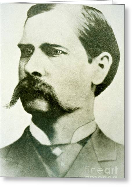 Wyatt Earp Greeting Card by American School