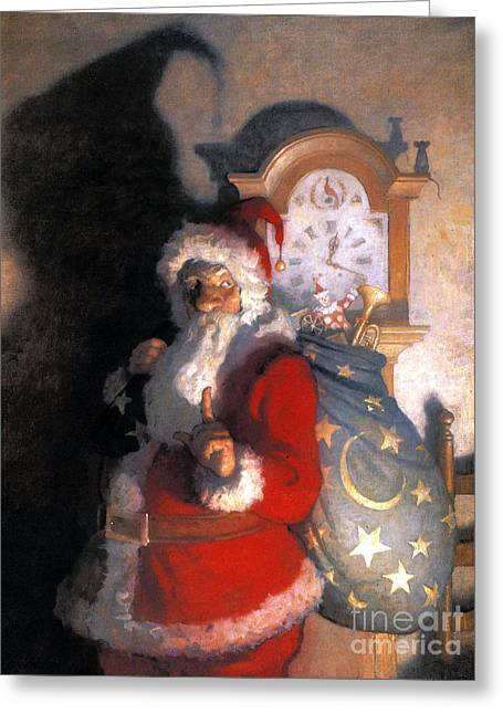 Nicholas Greeting Cards - Wyeth: Old Kris (kringle) Greeting Card by Granger
