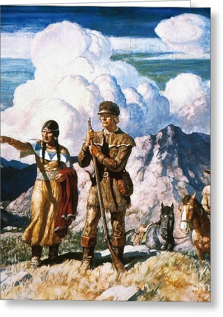 N.c. Greeting Cards - Wyeth: Sacajawea Greeting Card by Granger