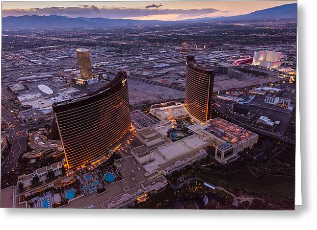 Wynn Aloft Las Vegas N V Greeting Card by Steve Gadomski