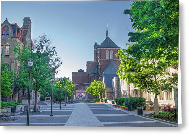 Wynn Commons - University Of Pennsylvania Greeting Card by Bill Cannon