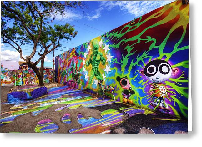 Recently Sold -  - Ying Greeting Cards - Wynwood Walls Greeting Card by DM Photography- Dan Mongosa