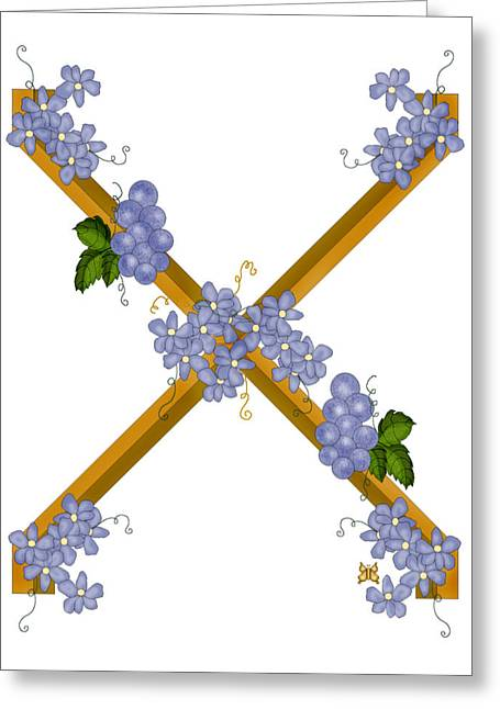 X Is For Ten Greeting Card by Anne Norskog
