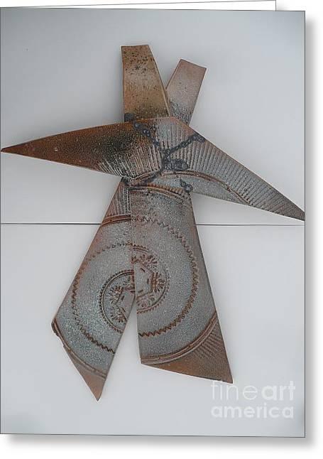 Glazed Ceramics Greeting Cards - X Marks The Spot Greeting Card by Kelaine Kvale