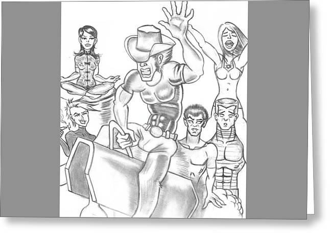 X-men Greeting Card by Terrence Stone