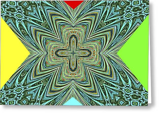 X With Colors Greeting Card by Susan Leggett