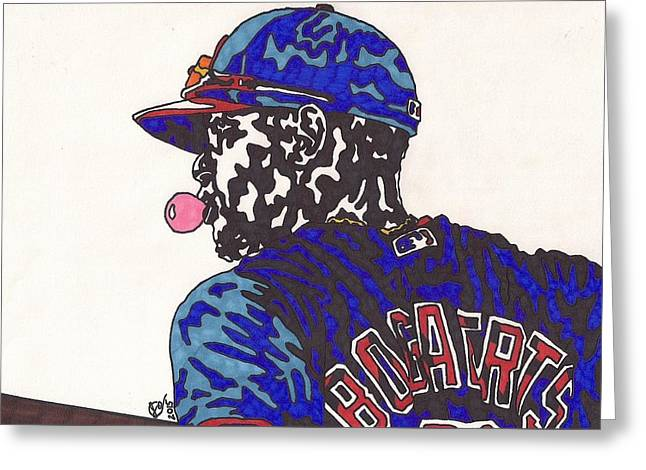 Allstar Greeting Cards - Xander Bogaerts 1  Greeting Card by Jeremiah Colley