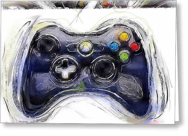 Xbox Thrills Greeting Card by Russell Pierce