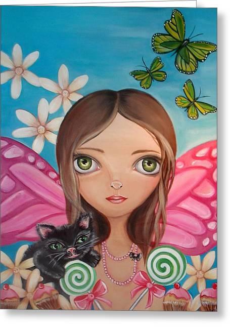 Xenia Fairy Greeting Card by Jaz Higgins