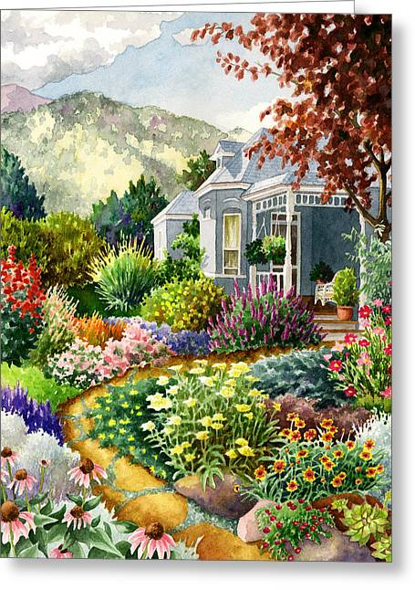 Recently Sold -  - Victorian Greeting Cards - Xeriscape Garden Greeting Card by Anne Gifford