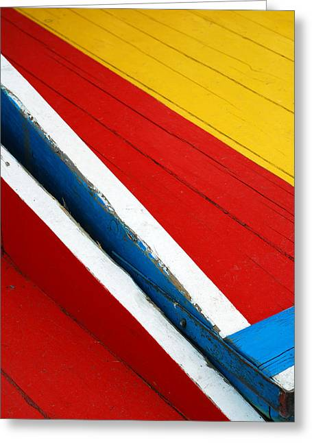 Xochimilco Boat Abstract 1 Greeting Card by Skip Hunt