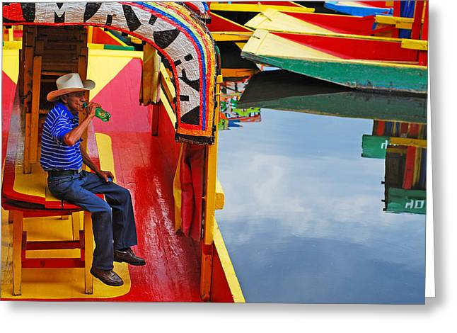 Xochimilco Greeting Card by Skip Hunt