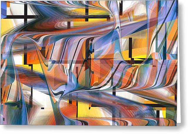 Abstract Digital Digital Art Greeting Cards - Xs and O so pretty 49 Greeting Card by rd Erickson
