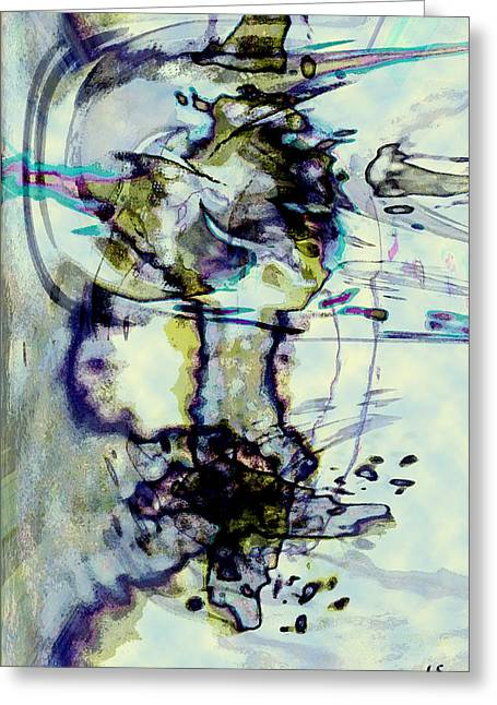Abstract Expression Greeting Cards - Xuan Greeting Card by Linda Sannuti