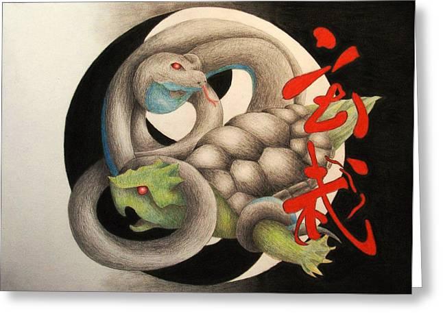 Xuan Wu Greeting Card by Lauren Cawthron