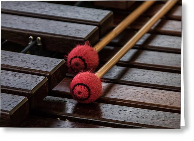 Xylophone Greeting Card by Odd Jeppesen
