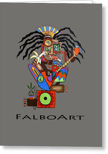 Dreads Greeting Cards - Ya Man 2 No Steel Drums Greeting Card by Anthony Falbo