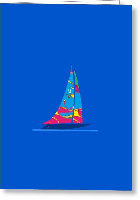 Yacht Luxury   Nautical   Beach Greeting Card by Johannes Murat