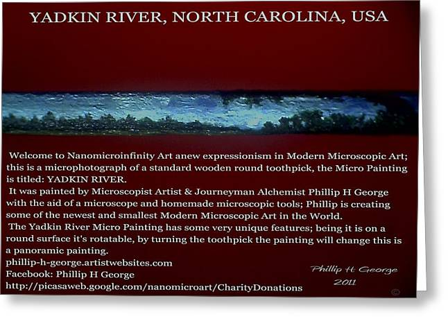 Nanomicroinfinity Art Greeting Cards - Yadkin River North Carolina Greeting Card by Phillip H George