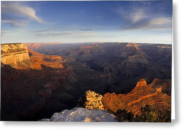 Peaceful Scenery Greeting Cards - Yaki Point Panorama Greeting Card by Andrew Soundarajan
