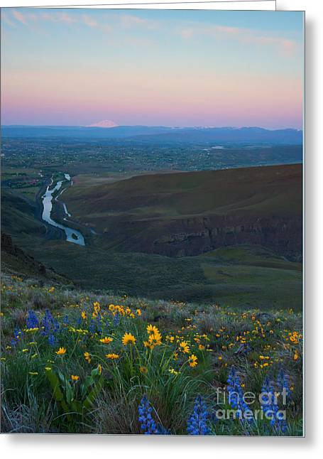 Yakima River Dawn Greeting Card by Mike Dawson
